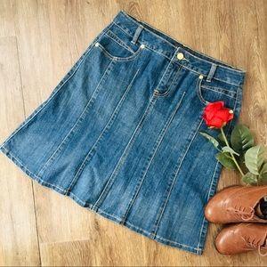 Dresses & Skirts - Pretty and Trendy Denim A-Line Skirt!